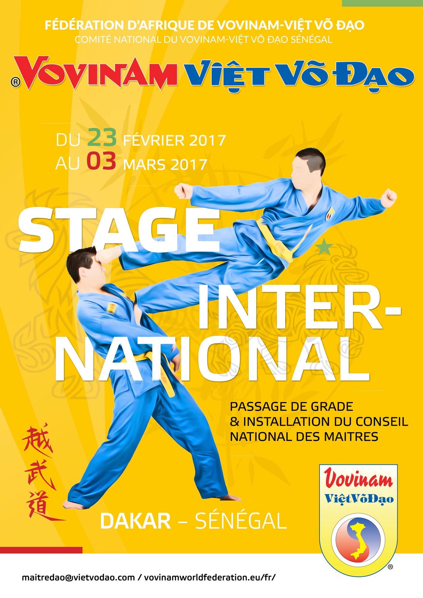 affiche stage senegal 2017